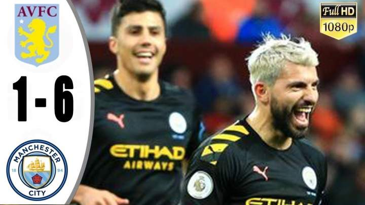Aston Villa 1 - 6 Manchester City (Jan-12-2019) Premier League Highlights