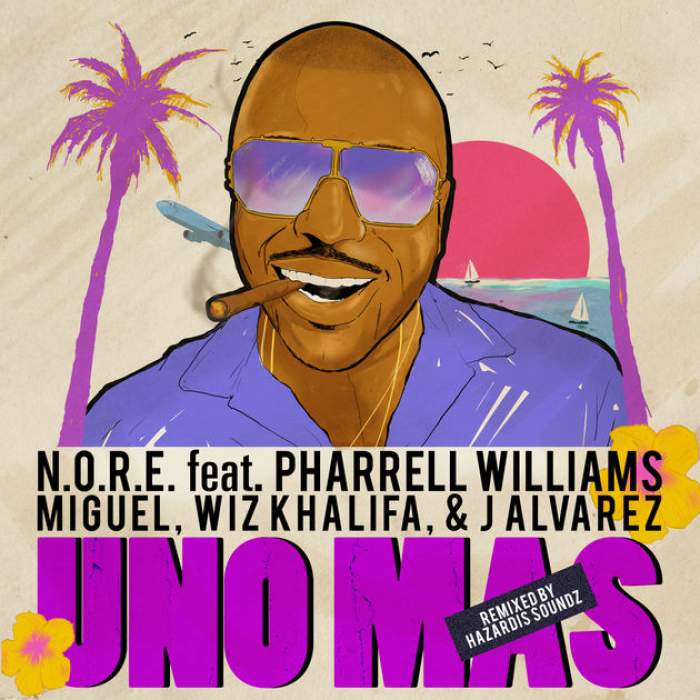 N.O.R.E - Uno Más (Remix) (feat. Pharrell Williams, Miguel, Wiz Khalifa & J Alvarez)