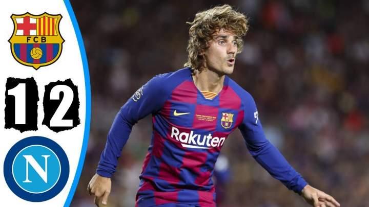 Barcelona 2 - 1 Napoli (Aug-08-2019) Club Friendlies Highlights